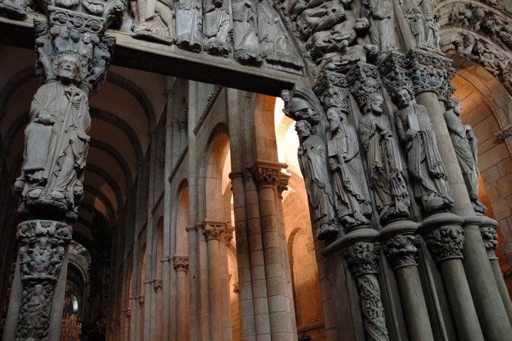 casa o muino santiago de compostela pórtico de la gloria de la catedral